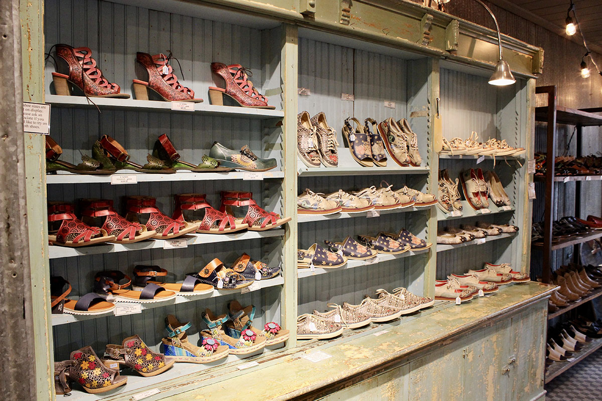 Shoes at Old Spud Warehouse in Gaylord Michigan